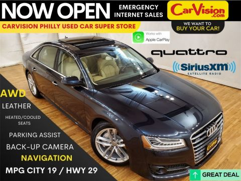 Pre-Owned 2017 Audi A8 L 3.0T quattro NAVIGATION MOONROOF REAR CAMERA With Navigation